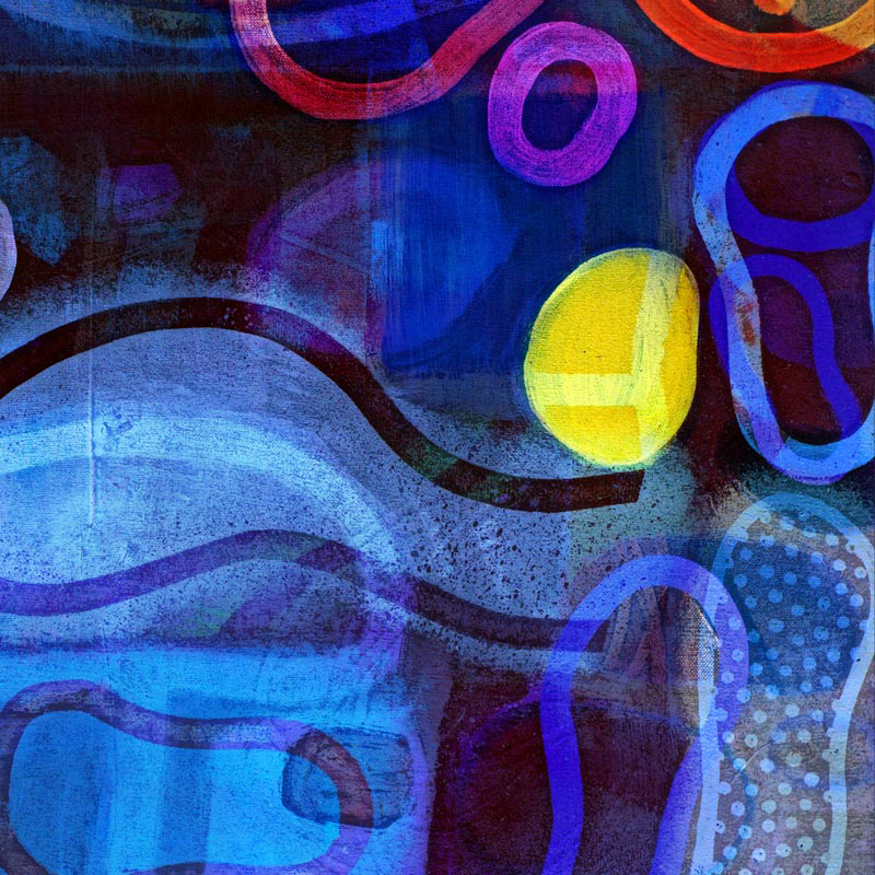 Bright colourful blue abstract fine art by Artic Storm