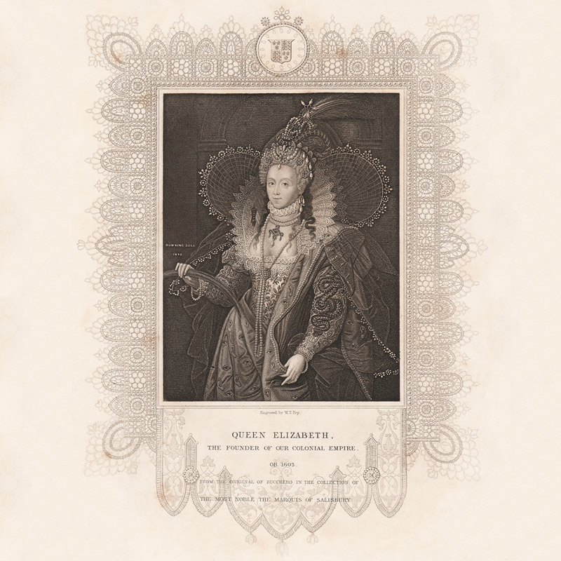 Queen Elizabeth I Historical & Archival Art by Artic Storm Hospitality Art Consultants
